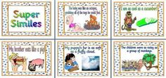 Super Similes Printable Posters for Classroom Display
