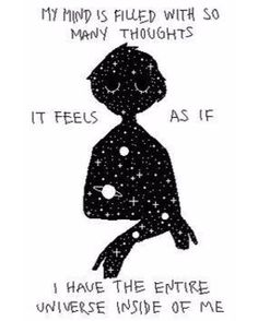 """1,632 Likes, 10 Comments - Introverts Are Us (@introverts.are.us) on Instagram: """"UNIVERSE IN MY HEAD ⭐️"""""""