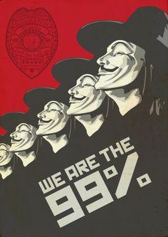 We Are The 99% by Tiago Lopes da Conceição, via Behance