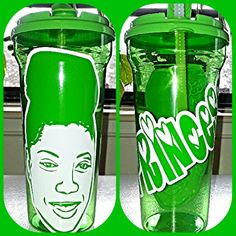 #Princess #Fisher #royaltee #cartoon #creations #vinyl #decals #cup #tumbler #Photo #green #white