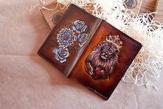 Customizable Passport Cover Travel Passport Cover Roses Lion