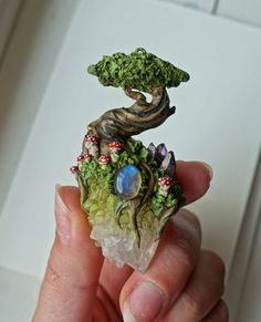 Little Forest by TheSpiritnectar on Etsy  Polymer clay www.etsy.com/
