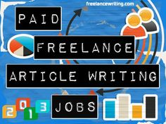 Paid Freelance Article Writing Jobs - an updated compilation of small writing agencies and content providers that pay for articles or offer some type of revenue-generating program. Article: http://www.freelancewriting.com/paid-freelance-article-writing-jobs.php