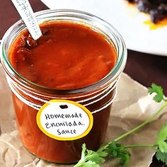 Homemade Red Enchilada Sauce ~~ so simple, and SO much better than the canned stuff!