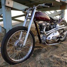 Bobber Inspiration | '49 Triumph 6T bobber | Bobbers and Custom Motorcycles | ironandair July 2014