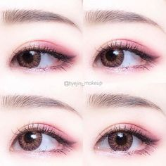 Whenever you do eye makeup, make your eyes look brighter. Your eye make-up need to make your eyes stand out amongst the other functions of your face. Korean Makeup Look, Korean Makeup Tips, Asian Eye Makeup, Korean Makeup Tutorials, Korean Beauty, Emo Makeup Tutorial, Korean Makeup Products, Eyeshadow Tutorials, Eyebrow Tutorial