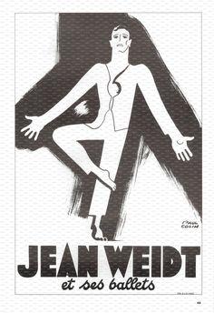 Paul Colin Poster Art Book Plate. Jean Weidt. 1938.