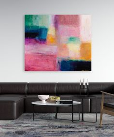 Esther Gemser Art | Limited Edition Collection: Jade Green (100x120 cm) Jade Green, Original Art, The Originals, Canvas, Table, Painting, Furniture, Collection, Home Decor