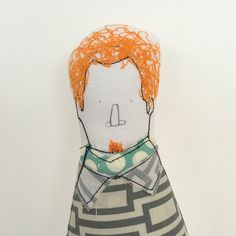 Redhead with a goatee Men doll handmad cloth by TIMOHANDMADE