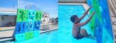 AquaClimb Modular Rock Wall System - Climbing the Cliff On Your Swimming Pool