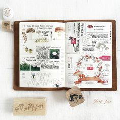 Journal Book inspiration by ✨ . __ Get our creative stuffs to decorate your journal from Vintage Stamps, Stickers and Tickets. Book Journal, Bullet Journal, Vintage Stamps, Hobonichi, Travelers Notebook, Doodles, Scrapbook, Writing, Stickers