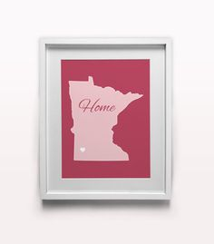 Custom Minnesota State Print Personalized by HomeStateDesign
