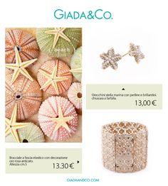 ORECCHINI http://www.giadaandco.com/orecchini/orecchini-stella-marina-perline-brillantini #stars #earrings BRACCIALE http://www.giadaandco.com/bracciali/bracciale-fascia-semi-rigido-rosa-anticato #bracelet #pinkgold