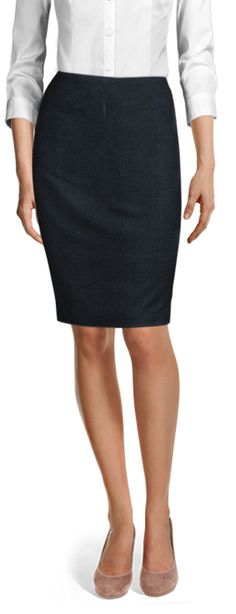 Discover made-to-measure fashion for women. Personalise your female suits, shirts, jackets and skirts at the best price. Business Skirts, High Waisted Pencil Skirt, Tailored Suits, Wool Skirts, Grey Stripes, Custom Clothes, Suits For Women, Love Fashion, Shirt Dress