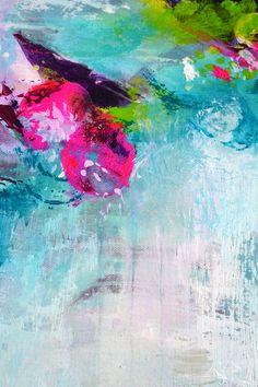 Ursprüngliche abstrakte Malerei moderne Kunstwerk von ARTbyKirsten