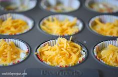 Eggs in a muffin tin.  This is such an easy breakfast idea!