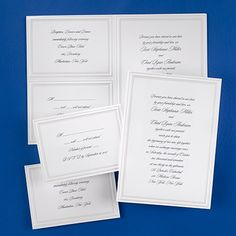 Jubilation - Sep 'n Send Your invitation, respond and reception cards will come to you on one convenient perforated sheet