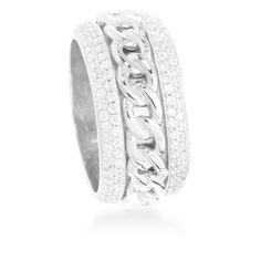 Surwa Ring Silver , White Zircon #LuxenterJoyas  #LuxenterTimeToShine