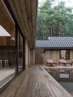 architecture Saint Petersburg, Russian Federation Obserwuj K Prefab Homes, Modular Homes, Architecture Details, Modern Architecture, Weekend House, House In The Woods, Exterior Design, Future House, Building A House