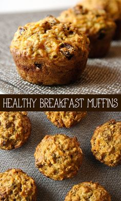Healthy Breakfast Muffins Recipe - Enjoy breakfast the healthy way! Make up a batch of these muffins as a perfect on-the-go meal or a snack to keep on track for healthy eating. These breakfast muffins are beyond delicious. Healthy Breakfast Muffins, Healthy Muffin Recipes, Healthy Treats, Healthy Baking, Breakfast Recipes, Breakfast Kids, Healthy Muffins For Kids, Healthy Oatmeal Muffins, Healthy Drinks