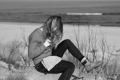 Hair Blonde Beauty Sombrehair Black&White Photo Photography Baltic Sea Landscape Beautiful Place Timbs Timberland