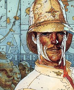 Major Grubert from The Airtight Garage by Jean Giraud (Moebius), 1977