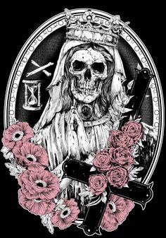 Skull Art by Rafal Wechterowicz aka Raf The Might ☠️ Tinta Tattoo, Desenho Tattoo, Beautiful Dark Art, Drawing Sketches, Drawings, Skeleton Art, Skull Wallpaper, Alien Art, Goth Art