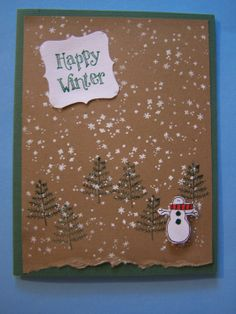 Andie's Originals: Stampin Up Winter wishes?