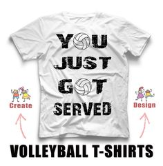 Volleyball T Shirt   If Volleyball Was Easy   Custom Designed T Shirt By  PureImaginationVinyl On Etsy | Pure Imagination Vinyl | Pinterest |  Volleyball