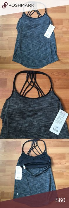 "LULULEMON Lighten Up Tank Black Grey Bra Yoga Top Lululemon Lighten Up Tank. Dark heathered grey black color with attached black bra. Similar to Wild tank.   ❥ NWT ❥ Size 4  ❣ No trades. No PayPal. No holds. ❣ ❣ For offers, use the ""Offer"" button below. ❣ lululemon athletica Tops"