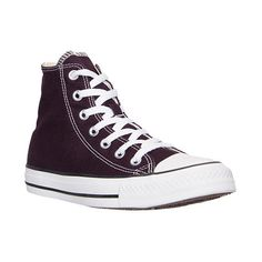 Converse Women's Chuck Taylor Hi Casual Shoes ($60) ❤ liked on Polyvore featuring shoes, sneakers, purple, converse shoes, purple shoes, purple high tops, evening shoes and lacing sneakers