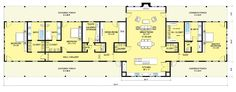 LONG Modern Ranch- Floor plan of ranch house by architect Nicholas Lee