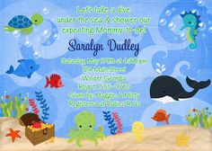 Under the Sea Baby Shower or Birthday by graciegirldesigns77
