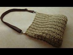 DIY Tutorial - How to Make Pink Awareness Ribbon Tapestry Crochet Handbag - For Breast Cancer Bolsa - YouTube