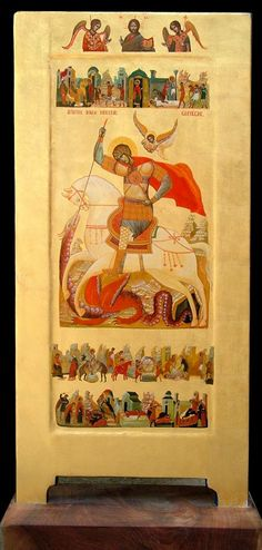 The New Romanian Masters: Innovative Iconography in the Matrix of Tradition / OrthoChristian. Religious Images, Religious Icons, Religious Art, Byzantine Icons, Byzantine Art, Saint George And The Dragon, Paint Icon, Orthodox Icons, Classical Art
