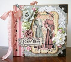 Two Crazy Crafters: Antique Ladies Diary Style Mini Album