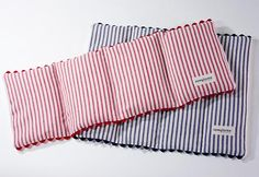 Rice Heating Pads. Great tutorial and materials list. 2 sizes... perfect for neck or for lap/back. I've made similar heating pads, but I like the divided sections on these pads. They probably form to the body better. I'll try it!
