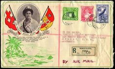 TONGA - Postal History 1935-45 Covers to Australia with 2 Tin Can covers (one undated), also 3 registered commercial covers (2 illustrated, one with adhesives to 2/6d Bird). (5)  Anbieter Phoenix Auctions  Saalauktion Ausruf: 48.00AUD