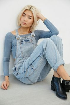 Rollas Trade Overall - Light Blue - Urban Outfitters