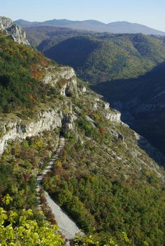 Val Rosandra (Slovene: Dolina Glinščice) is a valley centered on the river with the same name
