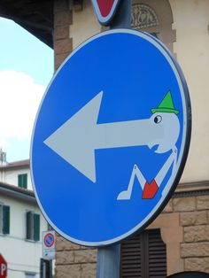 Street Art And Road Signs Clet Abraham Street Art Street And - Brilliant street artist modifies road signs giving them a whole new meaning