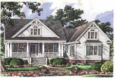 Exciting Curb Appeal (HWBDO10221) | Country House Plan from BuilderHousePlans.com