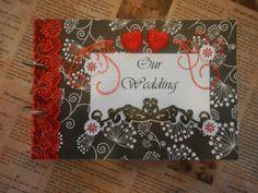Black, White & Red Wedding Album
