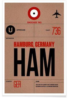HAM-Hamburg als Premium Poster von Naxart   JUNIQE