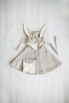 Linen Rabbit Cape | Tortoise & the Hare Clothing