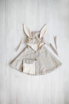Linen Rabbit Cape | Tortoise & the Hare Clothing