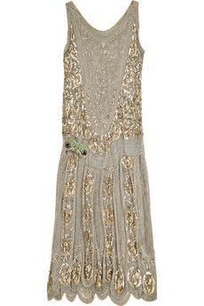One Vintage 1920s flapper dress  | NET-A-PORTER