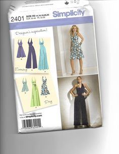 Simplicity 2401 by CraftingMoose on Etsy