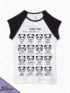 Japanese Panda Emoticon TShirt by LokisaFashion on Etsy, $20.50