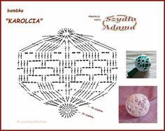 Crochet Ball, Thread Crochet, Crochet Stitches, Free Crochet, Knit Crochet, Crochet Ornaments, Christmas Crochet Patterns, Crochet Snowflakes, Diy Christmas Ornaments